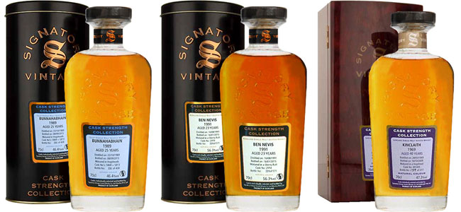 Signatory Cask Strength Whisky Collection