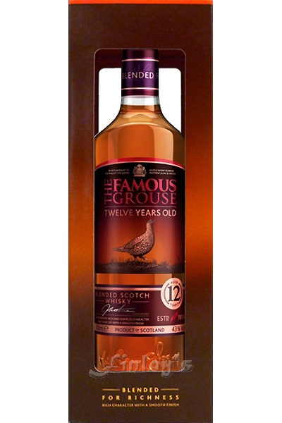 The Famous Grouse 12 Jahre Whisky 0,7 L Blended for Richness